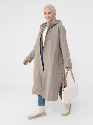 - Unlined - Cotton - Trench Coat - Refka