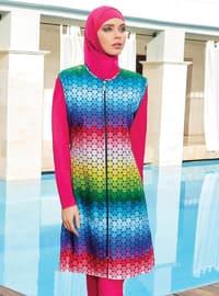 Fuchsia - Full Coverage Swimsuit Burkini
