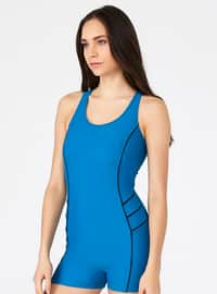 Unlined - Petrol - Performance Swimsuit