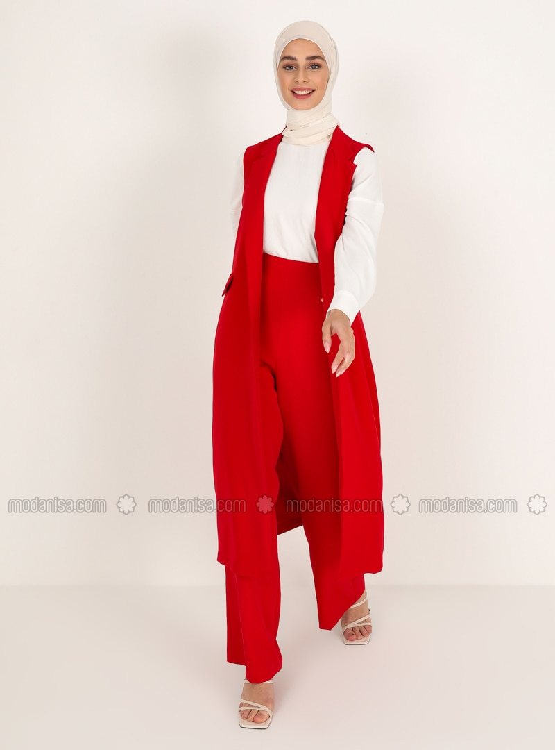 Red - Unlined - Vest