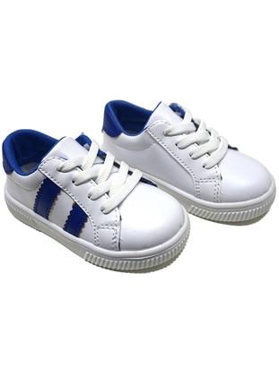 White - Navy Blue - Sport - Boys` Shoes