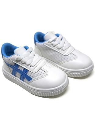 White - Blue - Sport - Boys` Shoes
