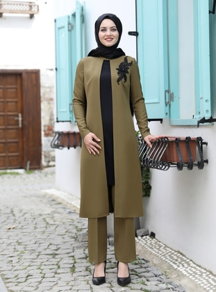 Olive Green - Unlined - Suit