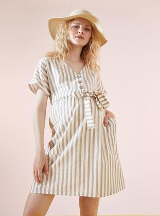 Beige - Maternity Dress