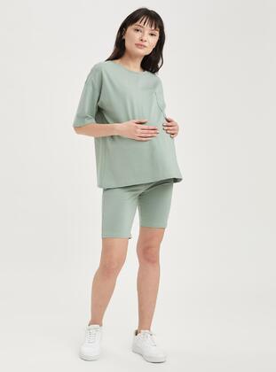 Green - Maternity Leggings