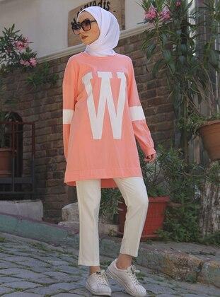 Crew neck - Salmon - Sweat-shirt
