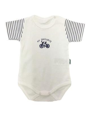 Stripe - Crew neck - Indigo - Cotton - Baby Suit - Dinemis Baby