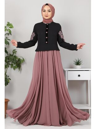 Fully Lined - Dusty Rose - Modest Evening Dress