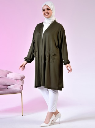 - Shawl Collar - Viscose - Plus Size Cardigan