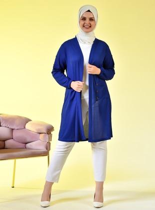Saxe - Shawl Collar - Viscose - Plus Size Cardigan