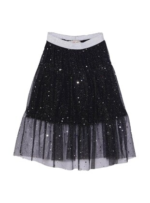 Black - Girls` Skirt - Silversun Kids
