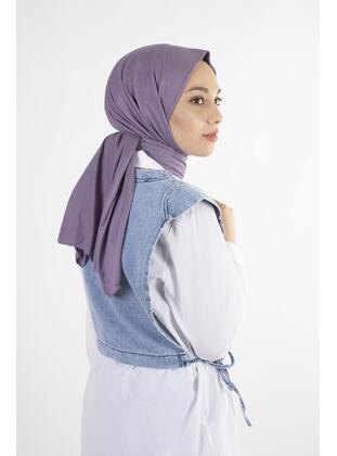 Lilac - Plain - Combed Cotton - Shawl