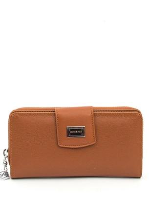 Tan - Clutch - Wallet