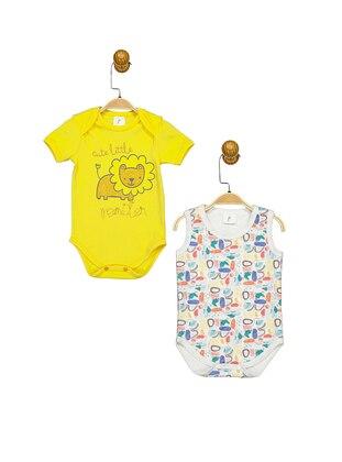 Multi - Crew neck - Yellow - Baby Body - SUPERMİNO