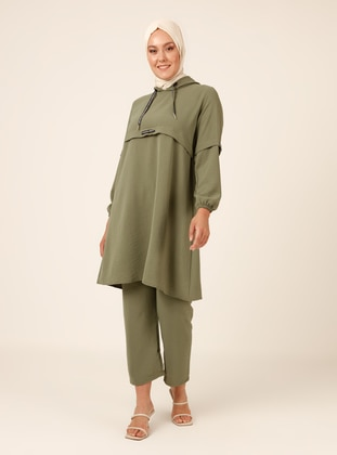 Green Almond - Unlined - Plus Size Suit