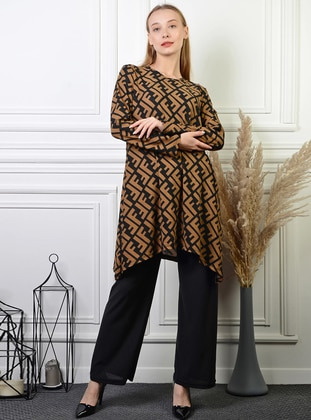 Black - Multi - Cotton - Suit