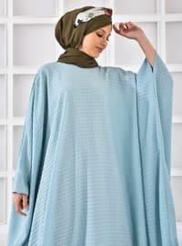 Mint - Unlined - Crew neck - Abaya