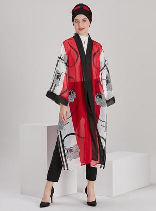 Unlined - Multi - Red - Kimono