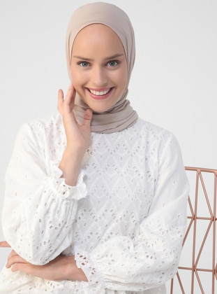 - Crew neck - Fully Lined - Cotton - Modest Dress