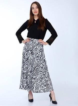 Multi - Multi - Zebra - Fully Lined - Skirt