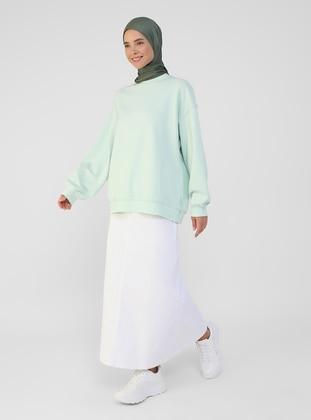 White - Ecru - Unlined - Skirt