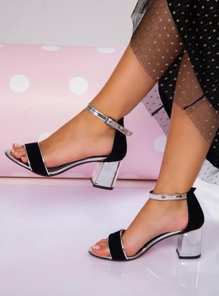 Silver tone - Sandal - High Heel - Heels