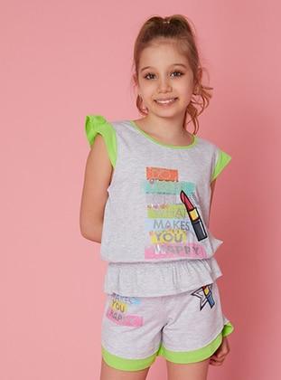 Multi - Multi - Cotton - Girls` Shorts - LITTLE STAR