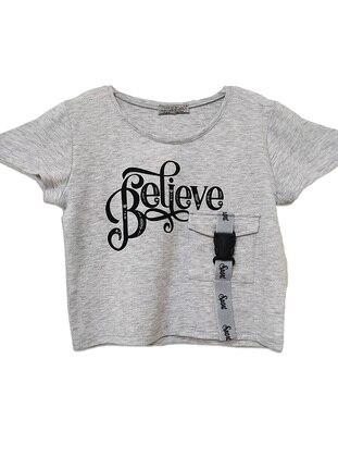 Multi - Gray - Girls` T-Shirt