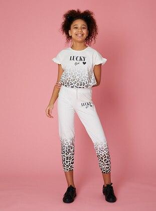 Multi - Cream - Girls` T-Shirt - LITTLE STAR