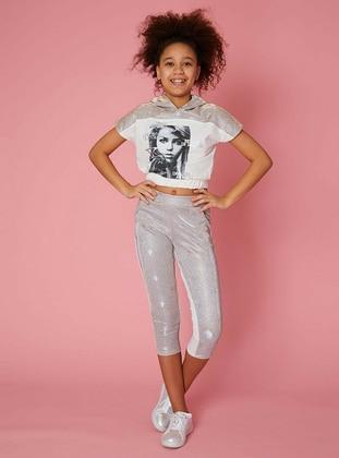 Cream - Cotton - Girls` Pants