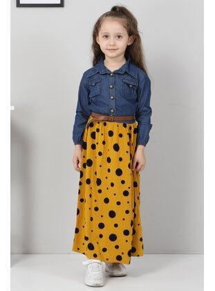 Unlined - Yellow - Girls` Dress