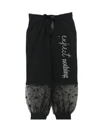 Black - Cotton - Girls` Shorts