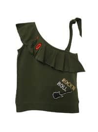 Crew neck - Black - Cotton - Girls` Shorts