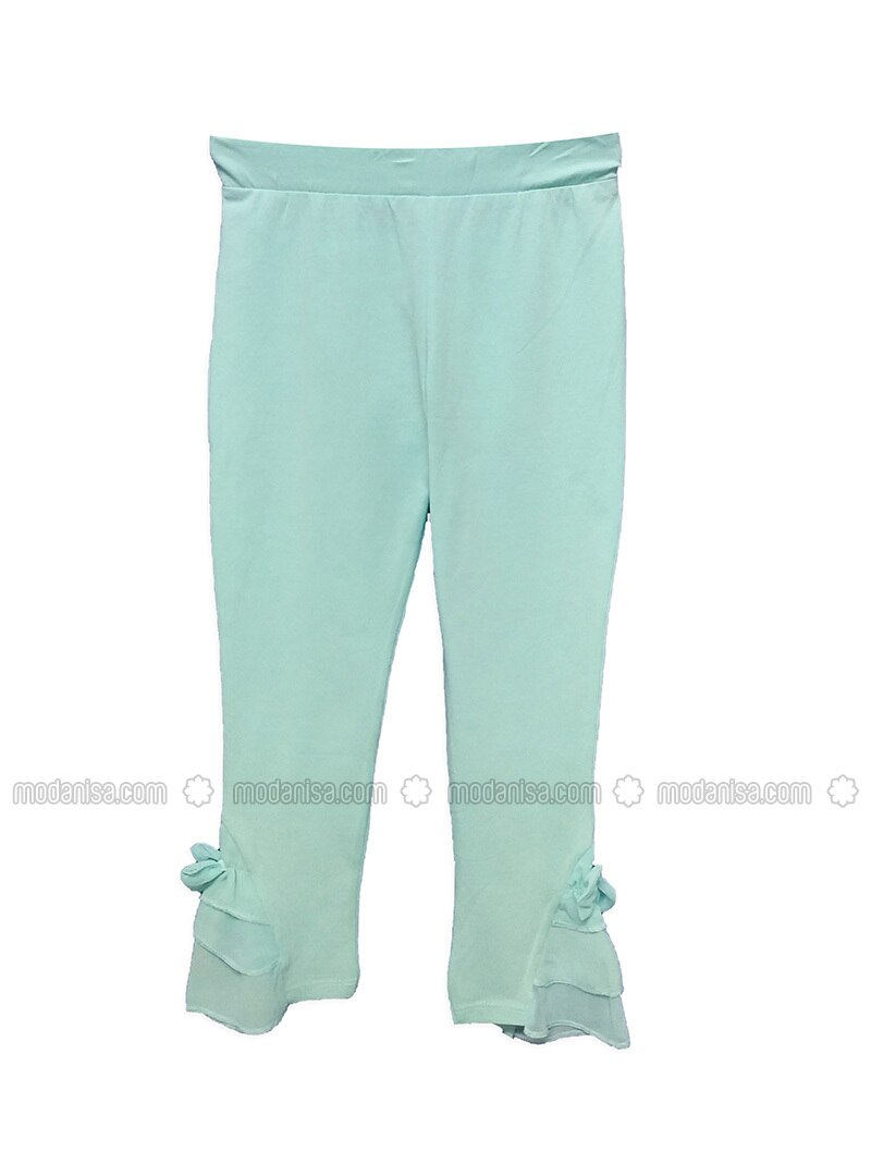 Mint - Cotton - Girls` Pants
