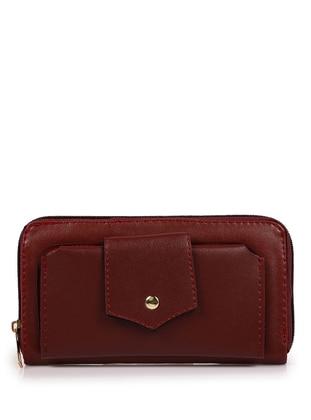 Maroon - Clutch - Wallet