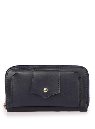 Navy Blue - Clutch - Wallet