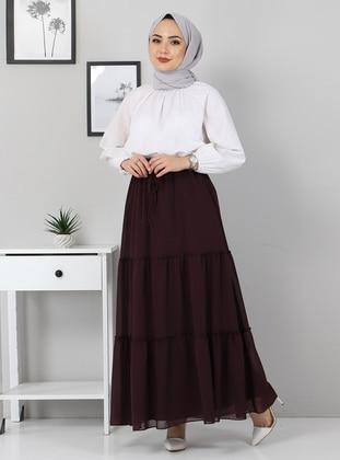 Unlined - Plum - Skirt