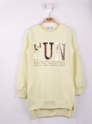 Yellow - Girls` Sweatshirt
