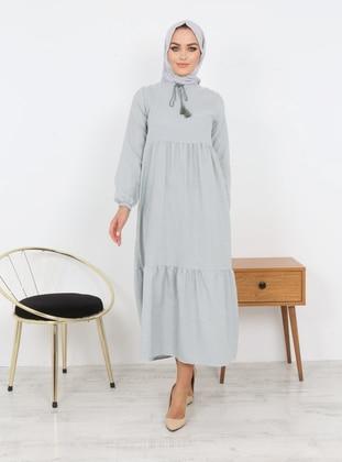 - Stripe - Unlined - Modest Dress