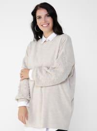 - Crew neck - Plus Size Knit Tunics
