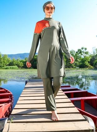 - Multi - Full Coverage Swimsuit Burkini