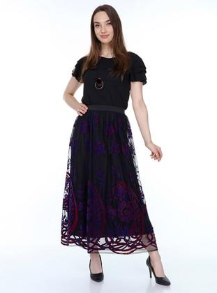 Saxe - Black - Fully Lined - Skirt