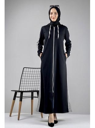 Black - Combed Cotton - Abaya