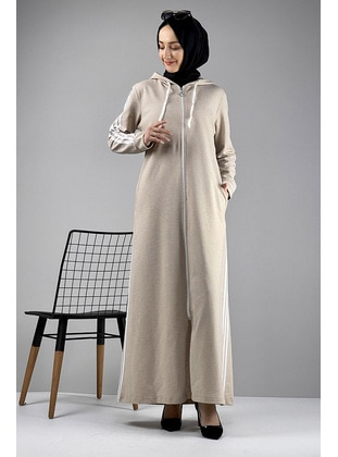 Mink - Combed Cotton - Abaya