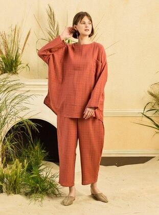 Terra Cotta - Unlined - Cotton - Suit
