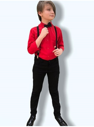 Red - Boys` Suits