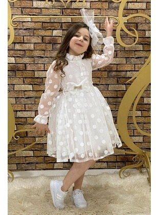 White - Girls` Dress