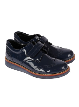 Navy Blue - Boys` Shoes - Sanbe