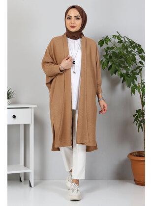 Camel - Knit Cardigans - Tesettür Dünyası