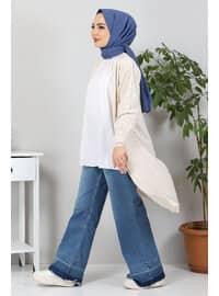 Beige - Knit Cardigans